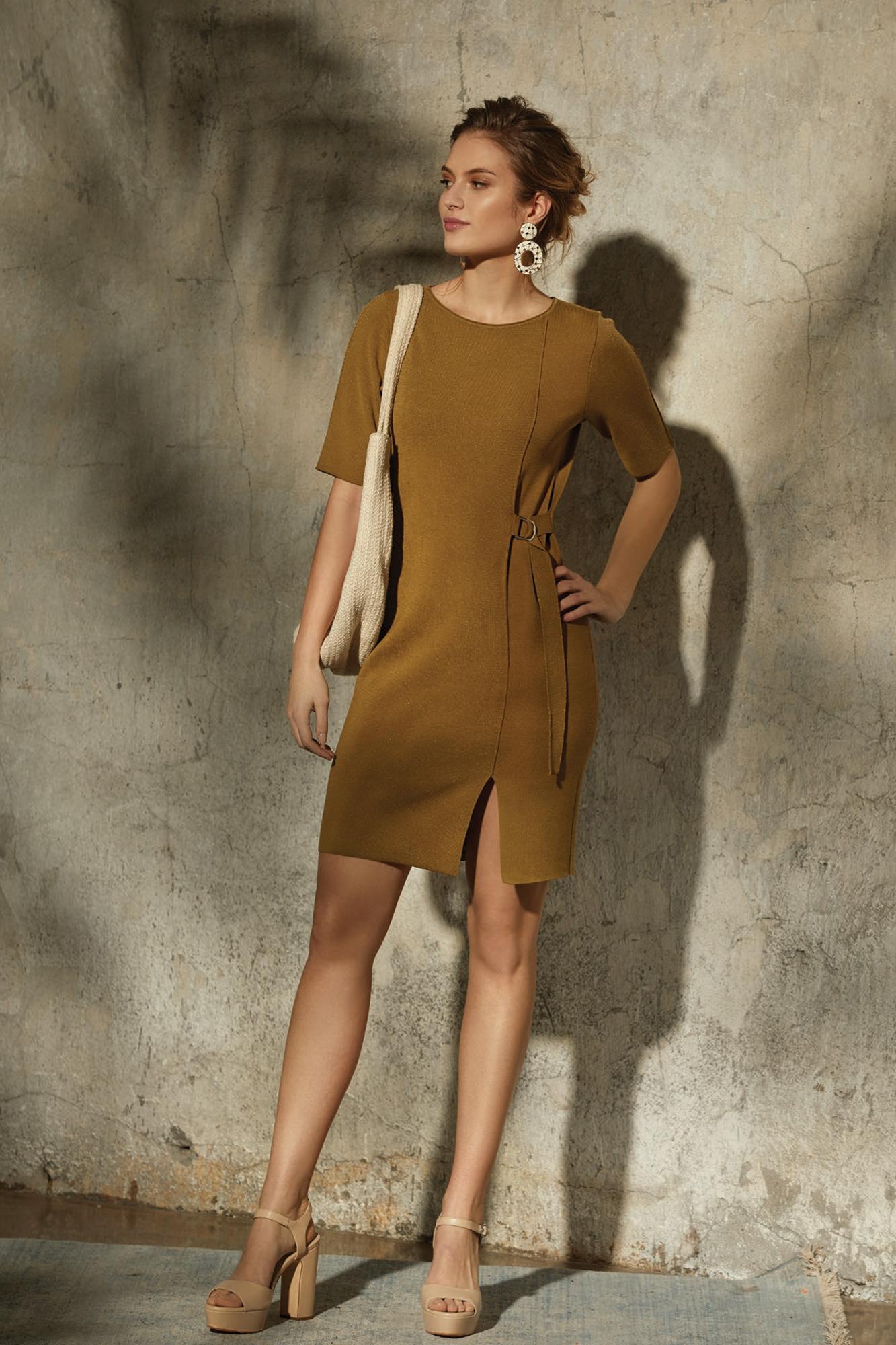 suknia felicia, suknia dzianina, dopasowana suknia, elegancka suknia